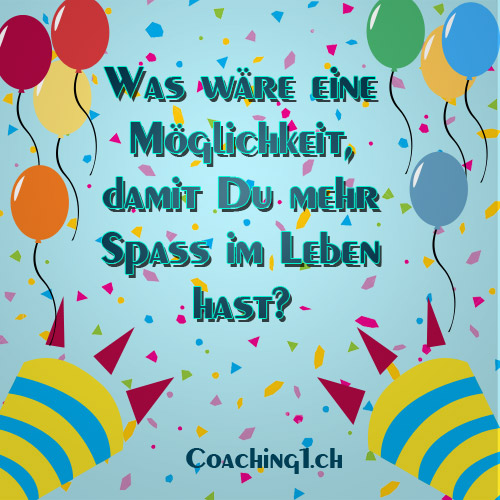 Spass Leben Coaching